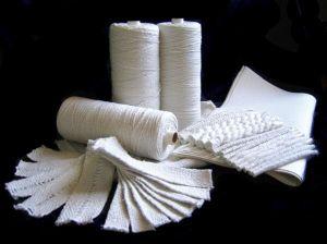 Fiberglas, Keramik und Asbest Garn
