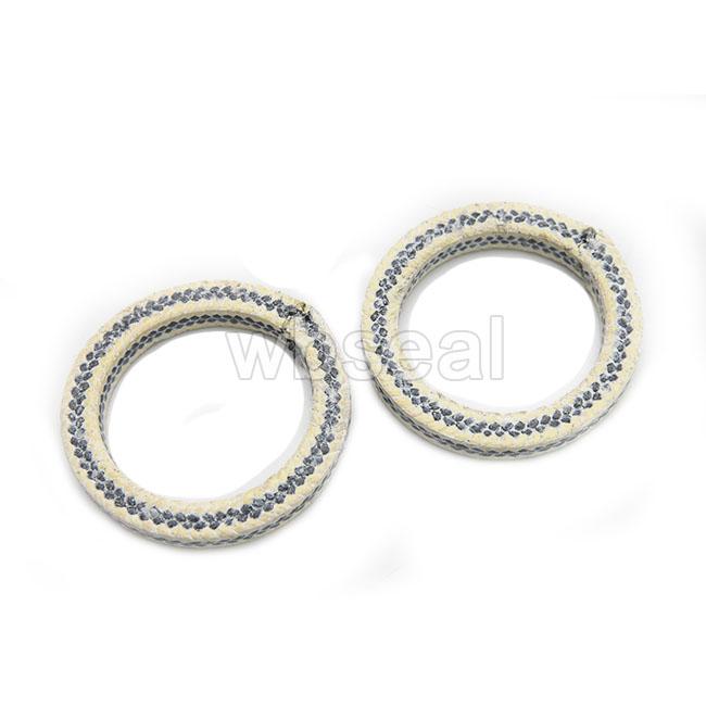 Graphite PTFE Packing ring with  Aramid fiber corners