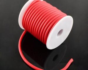 Red Silicon Gummischnur
